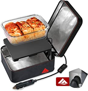 SabotHeat Food Warming Tote - 12V Car Food Warmer Fast Heating Portable Oven for Car Heat Lunch Box, Mini Microwave Food Warmer/Heater for Meal Reheating & Raw Food Cooking, Using for Work/Drive/Trip