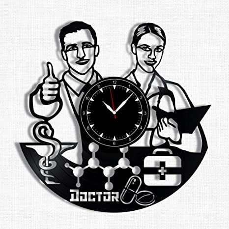 Amazon Com Doctor Vinyl Record Clock Wall Clock Doctor Best Gift For Doctor Lover Original Wall Home Decor Home Kitchen