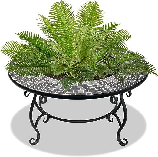 Centurion Supports Ginessa suntuoso jardín y patio Planter, hoguera de calentador, mesa de café, barbacoa y cubo para el hielo con mosaico azulejos de cerámica: Amazon.es: Jardín