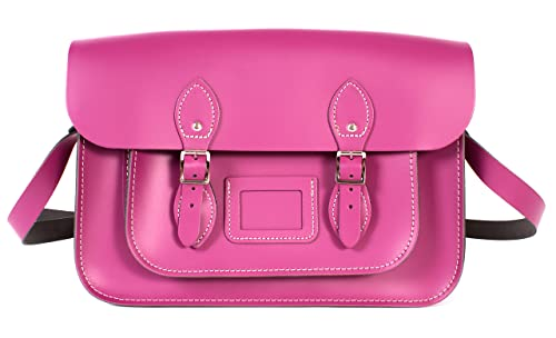 Oxbridge Satchels - Bolso estilo cartera de Piel para mujer rosa