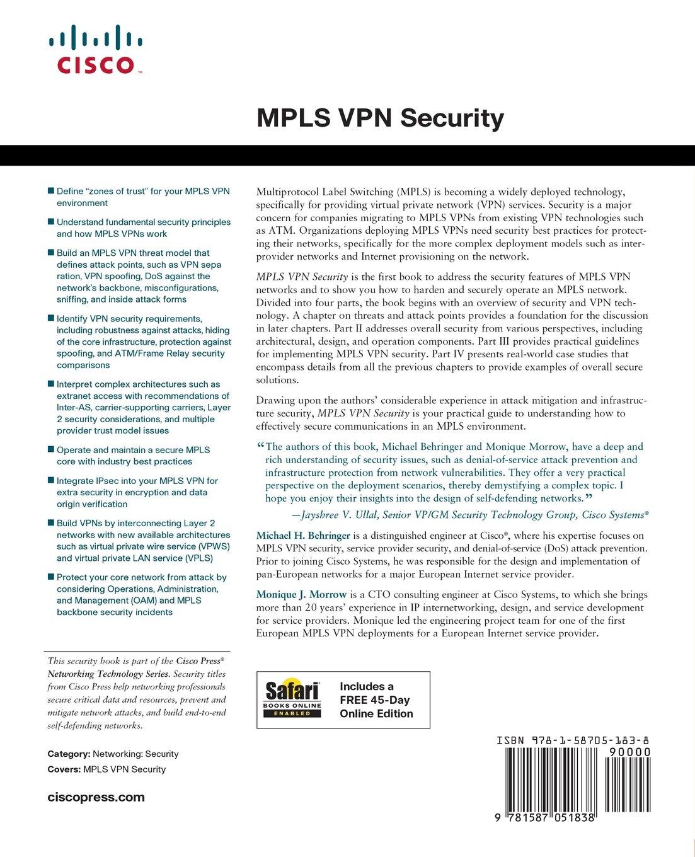 MPLS VPN Security: Amazon.de: Michael H. Behringer, Monique Morrow ...
