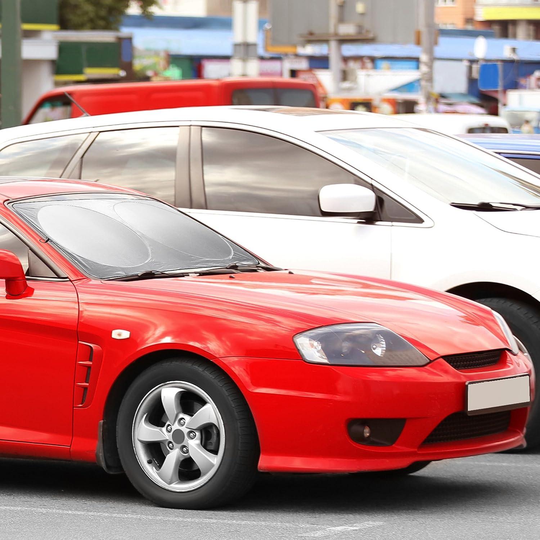 Mantiene il veicolo fresco Parasole anteriore per auto Protegge linterno dellauto dai raggi UV sole BRAMBLE! Flessibile parabrezza coprisole per un uso facile