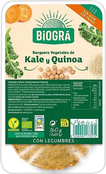 Biográ Hamburguesa Vegetal con Legumbres, Kale y Quinoa sin ...