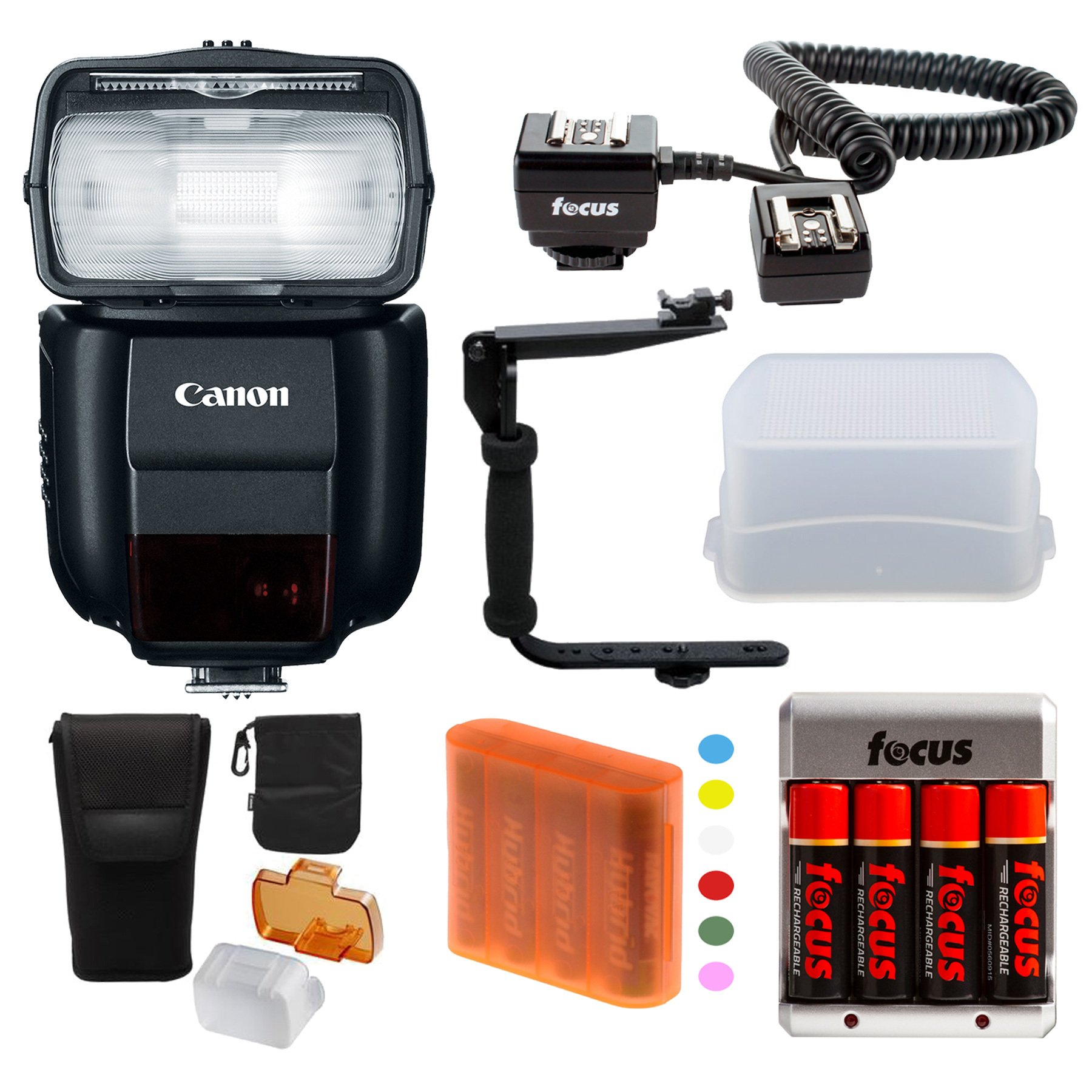Canon Speedlite 430EX II Flash + Deluxe Flash Bracket Accessory Kit for Canon... by Canon