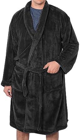Foxfire Big and Tall Men s Plush Robe 3XL - 4XL Black 652e36ad3