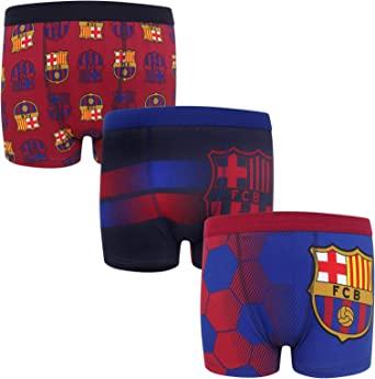 FC Barcelona - Pack de 3 calzoncillos oficiales de estilo bóxer ...