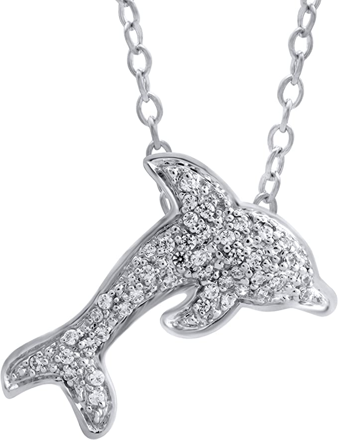 Sterling Pendant Dolphin Charm Silver Leaping Dolphin Add on wEtched Fin Details Symbolic Gift Idea Baby Shower Birthday Aleks Jewelry
