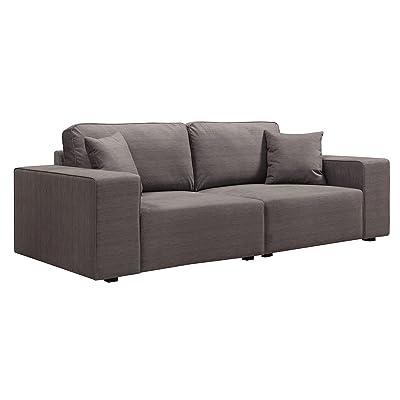 Serta Truman Sofa, Chenille Fabric, Fawn