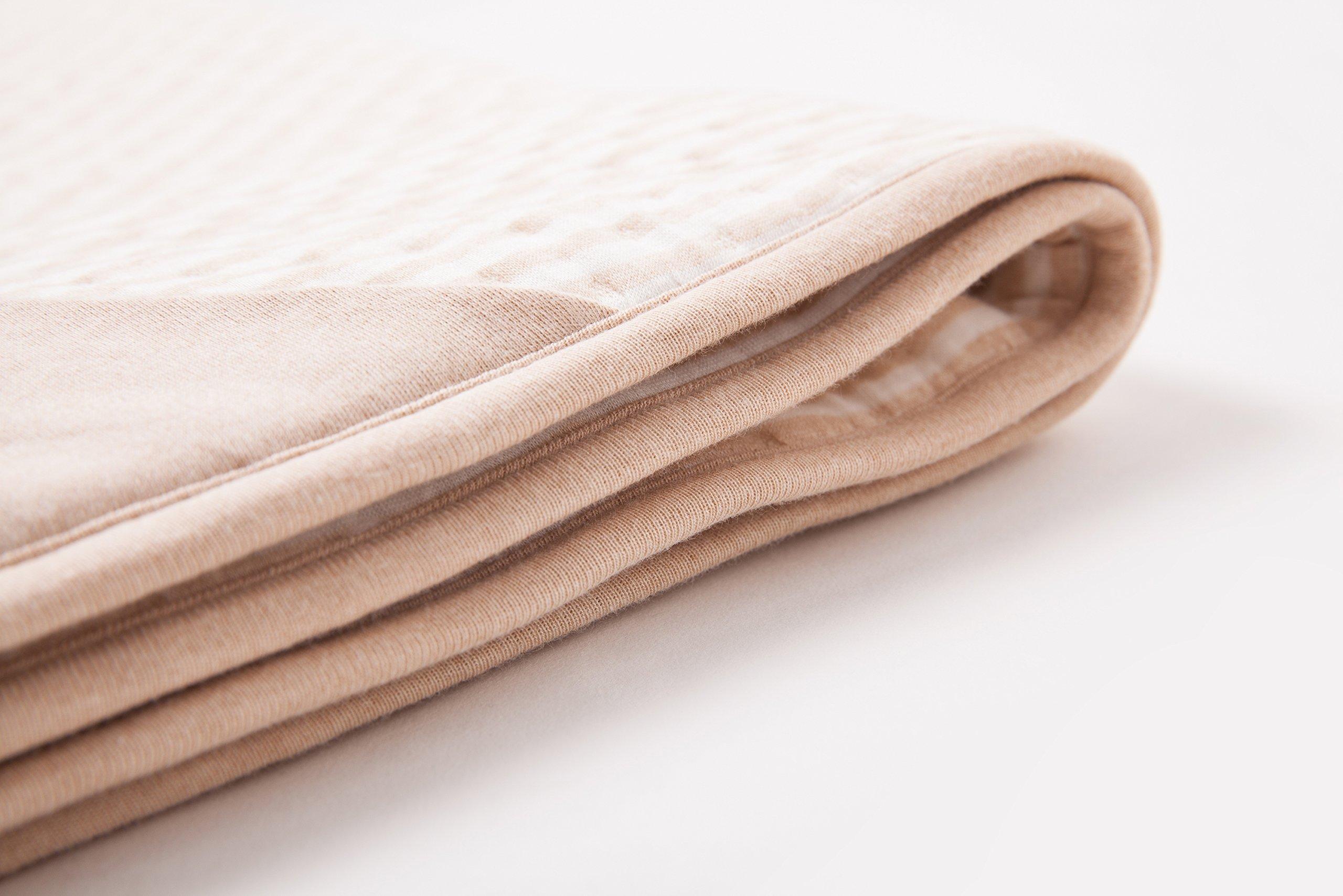 Protective Belly Pregnancy Baby Blanket, Organic, Anti-Radiation, Cream, 35''x30''