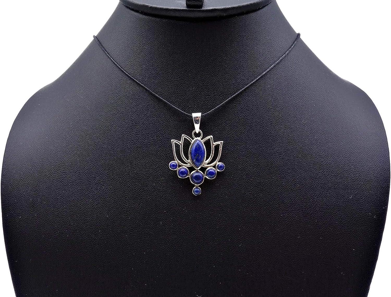 MAH 138 Pendentif argent 925 sterling avec lapis lazuli 25 mm37 mm