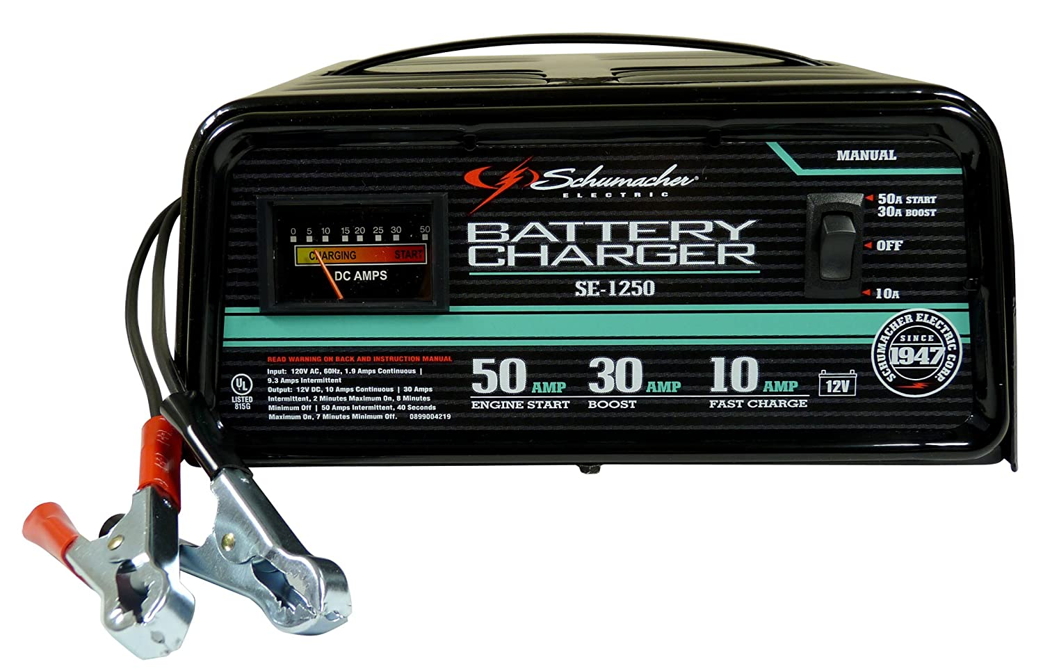 81AAdaFBIlL._SL1500_ amazon com schumacher se 1250 manual operation 10 and 30 amp schumacher battery charger se 4022 wiring diagram at nearapp.co