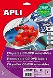 Apli Paper 10600 Etiquetas CD Removibles 25H.