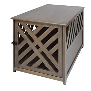 Casual Home Chappy Wooden Pet Crate With Wood Slats Espresso