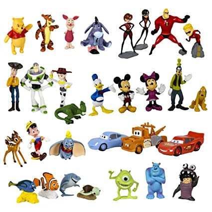 Amazon.com: Disney personajes Toy Figure Playset, 30-Piece ...