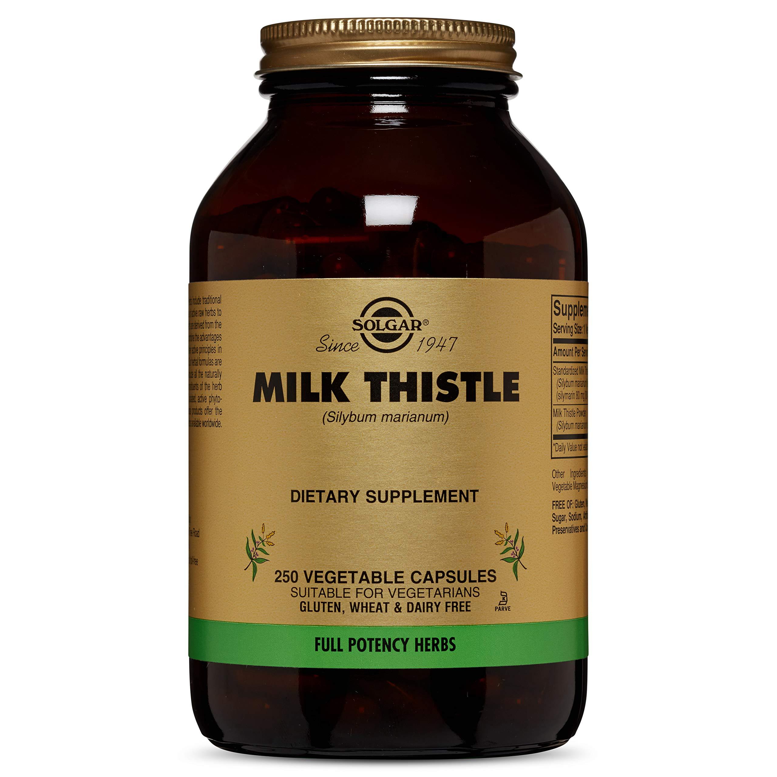 Solgar - Full Potency Milk Thistle, 250 Vegetable Capsules