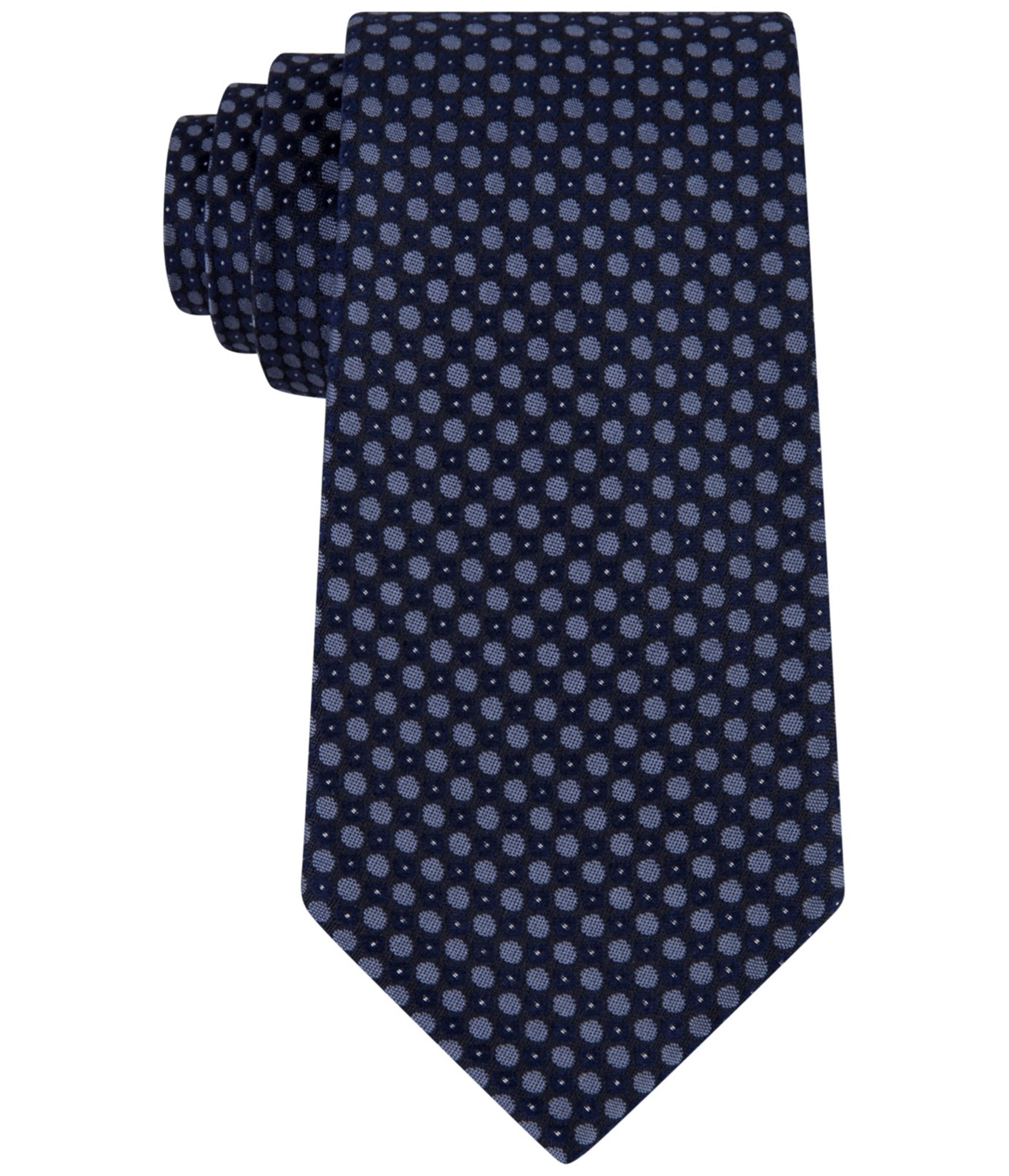 Kenneth Cole REACTION Men's Bling Dot Tie, Navy, One Size