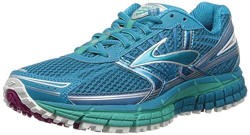 de9249356ae Brooks Women s Adrenaline ASR 11 Running Shoes 1201651B397 Caribbean Sea Pool  Green Silver 5