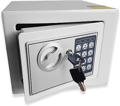 Caja fuerte electrónica, para dinero, de acero, para oficina o uso doméstico, montaje en pared o en el suelo, 23 x 17 x 17 cm (ancho x alto x profundo), de Futura: