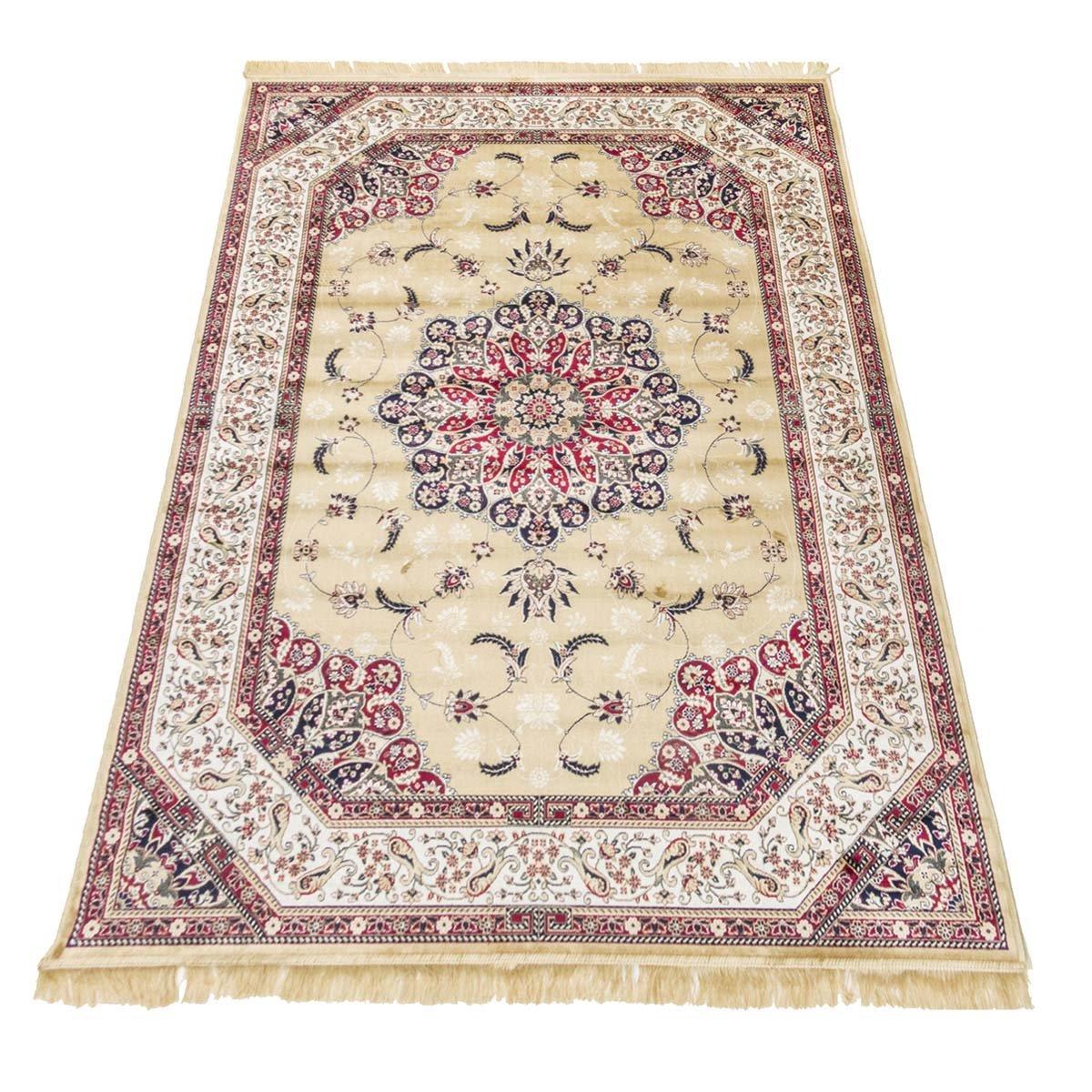 WEBTAPPETI Teppich Klassisch Keshan Teppich Teppich Teppich Kunst Seide Rubine 317-Gold cm.200x290 Gold B00NTVDG3U Teppiche 50d8cd