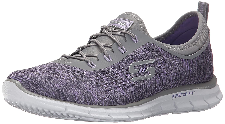 Skechers Glider - Fearless - Zapatillas de Deporte para Mujer 38.5 EU|Gray/Lavendar