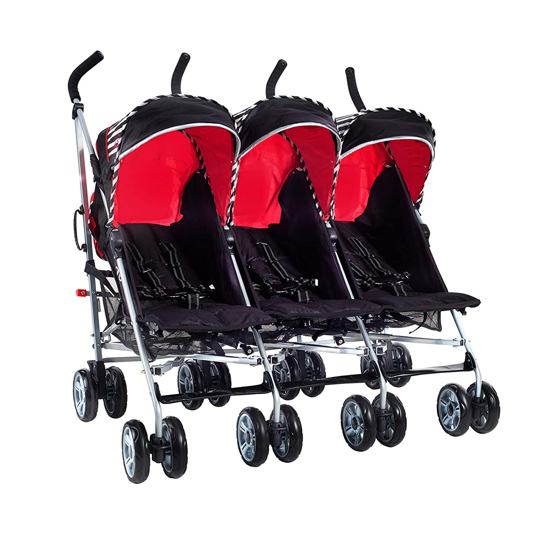 kein Zubeh/ör, Oxford Stripe Triplett Buggy Tandem Kinderwagen