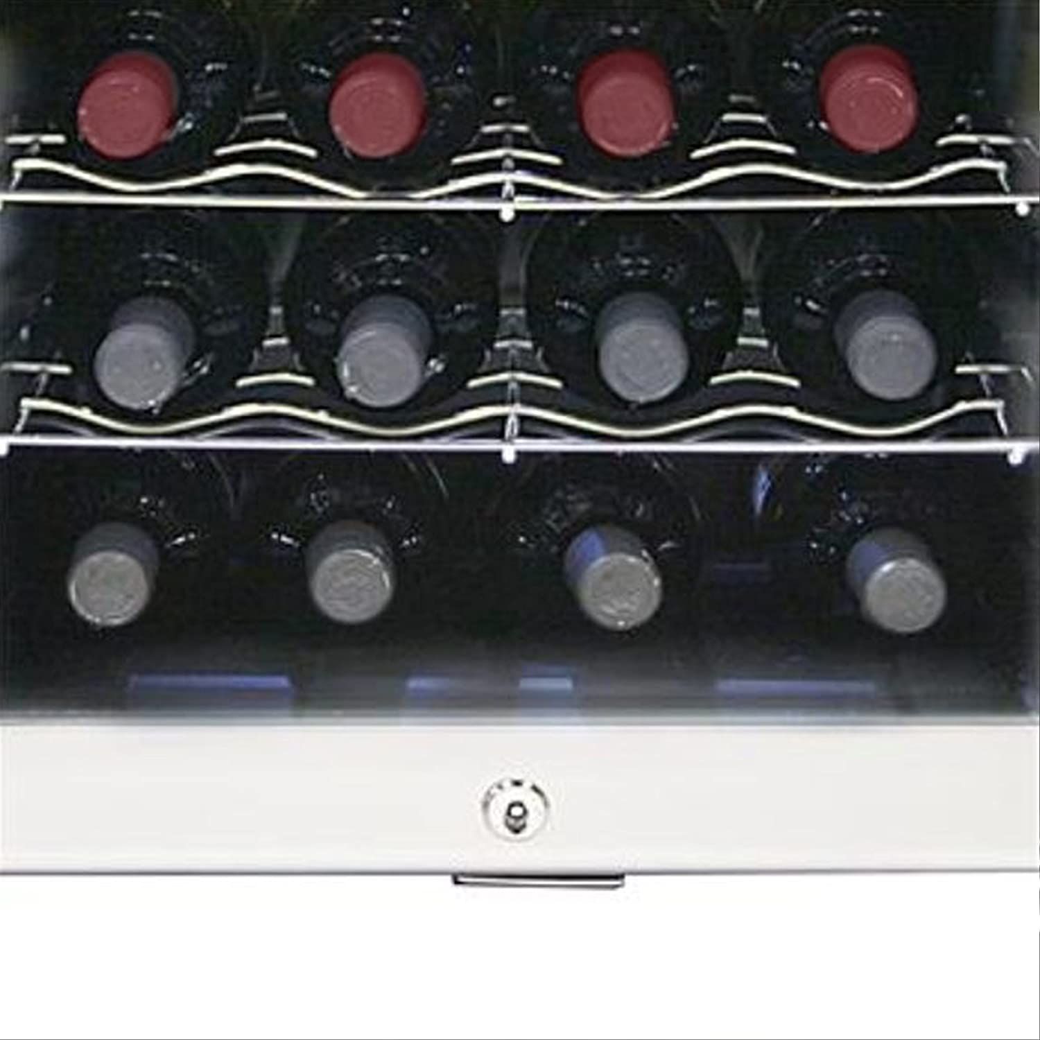 Platinum with Lock Whynter WC-16S SNO 16 Bottle Wine Cooler