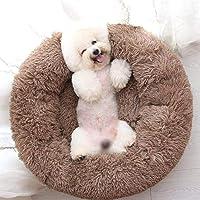 Warm Comfort Round Plush Dog Bed Donut, Comfortable Faux Fur Pet Bed Self-ing Donut Cuddler, Soft Dog Beds for Large…
