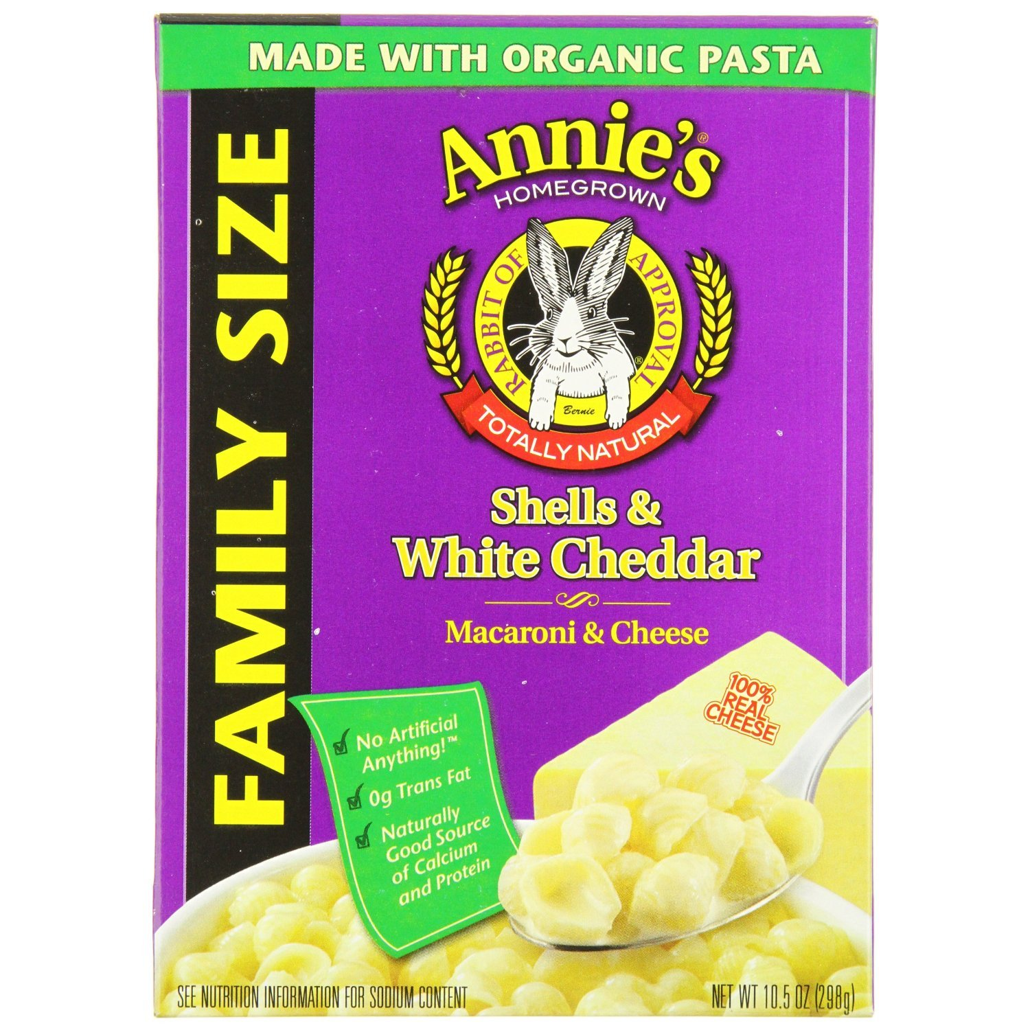 Annie's Homegrown Family-Size Shells & White Cheddar Mac & Cheese 10.5 Ounce by Annies Homegrown
