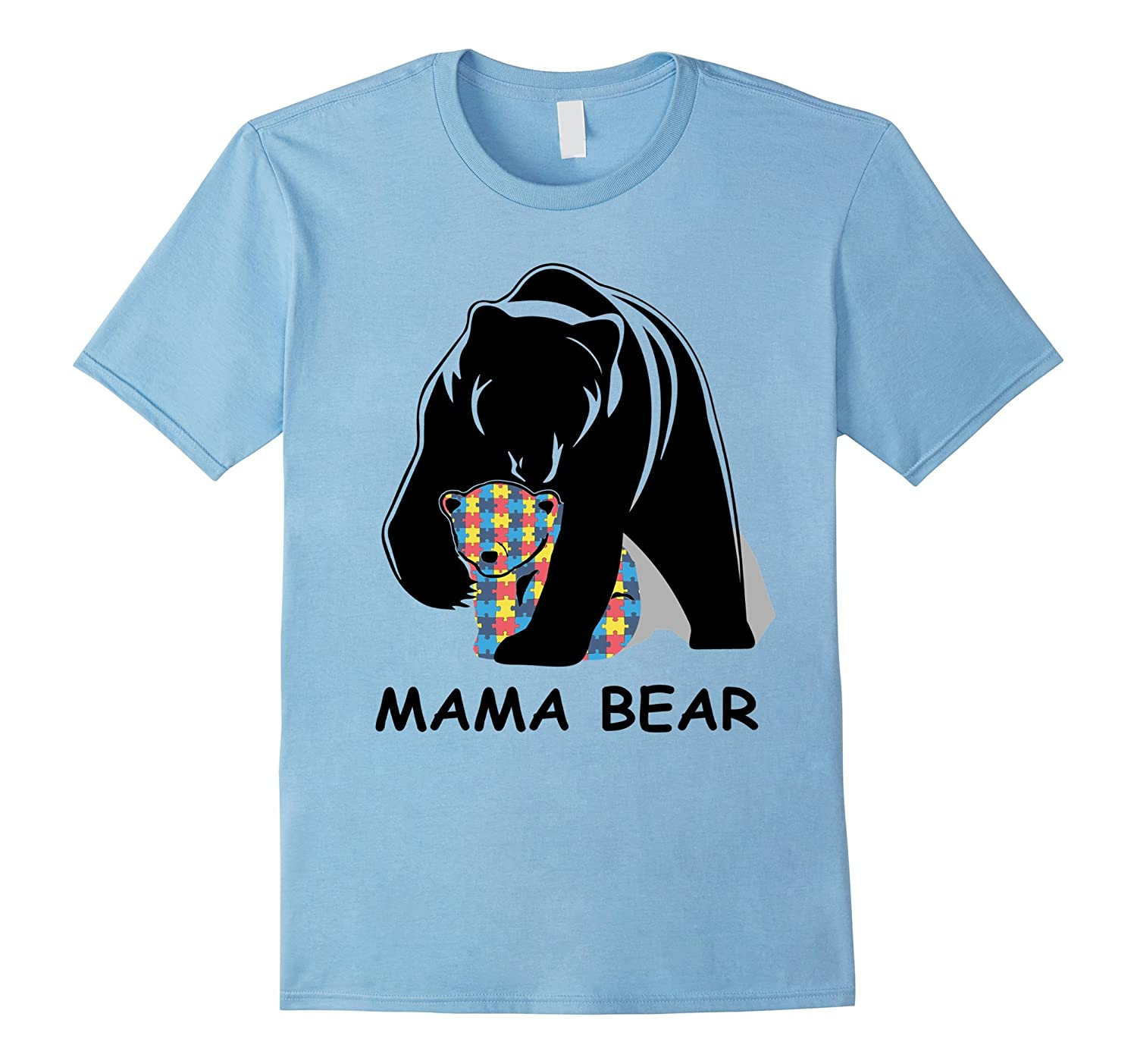 2017 Autism Awareness Mom - Mama Bear TShirt-CD