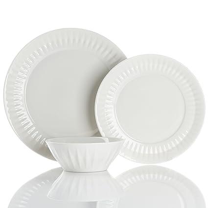 Brilliant - Urban Elegance Off White Dinnerware Set Service for 4  sc 1 st  Amazon.com & Amazon.com   Brilliant - Urban Elegance Off White Dinnerware Set ...