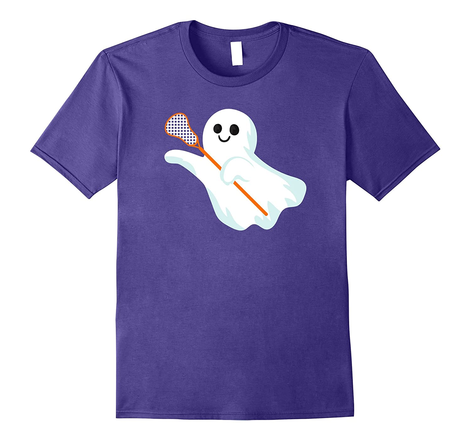 Lacrosse Girl Shirt - Ghost with Stick for Halloween-FL