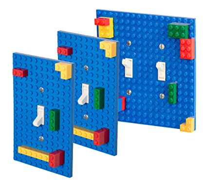 Classic Light Switch Baseplate Covers by Strictly Briks | Building Bricks  Base Plates | Compatible with All Major Brands | Unique for Bedrooms & Play