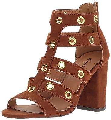 720b3b54a71 Qupid Women s Chester-19 Gladiator Sandal Dark Rust 6 ...
