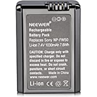 Neewer Replacement NP-FW50 1030mAh Battery for Sony Alpha 7 7R 7S A7II 7RII A6500 6300 6000 A5000 A3000 Alpha A5000 Alpha A6000 NEX-3 NEX-3N NEX-5 SLT-A37 SLT-A55V Cyber-Shot DSC-RX10 NEX3C CX100E