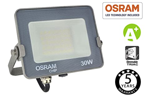 FactorLED Foco Proyector LED 30W Avance SMD con Chip OSRAM de ...