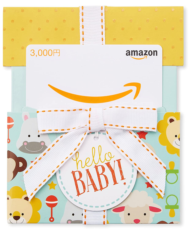 Amazonギフト券(封筒タイプ) - 3000円(ベイビー): Amazonギフト券