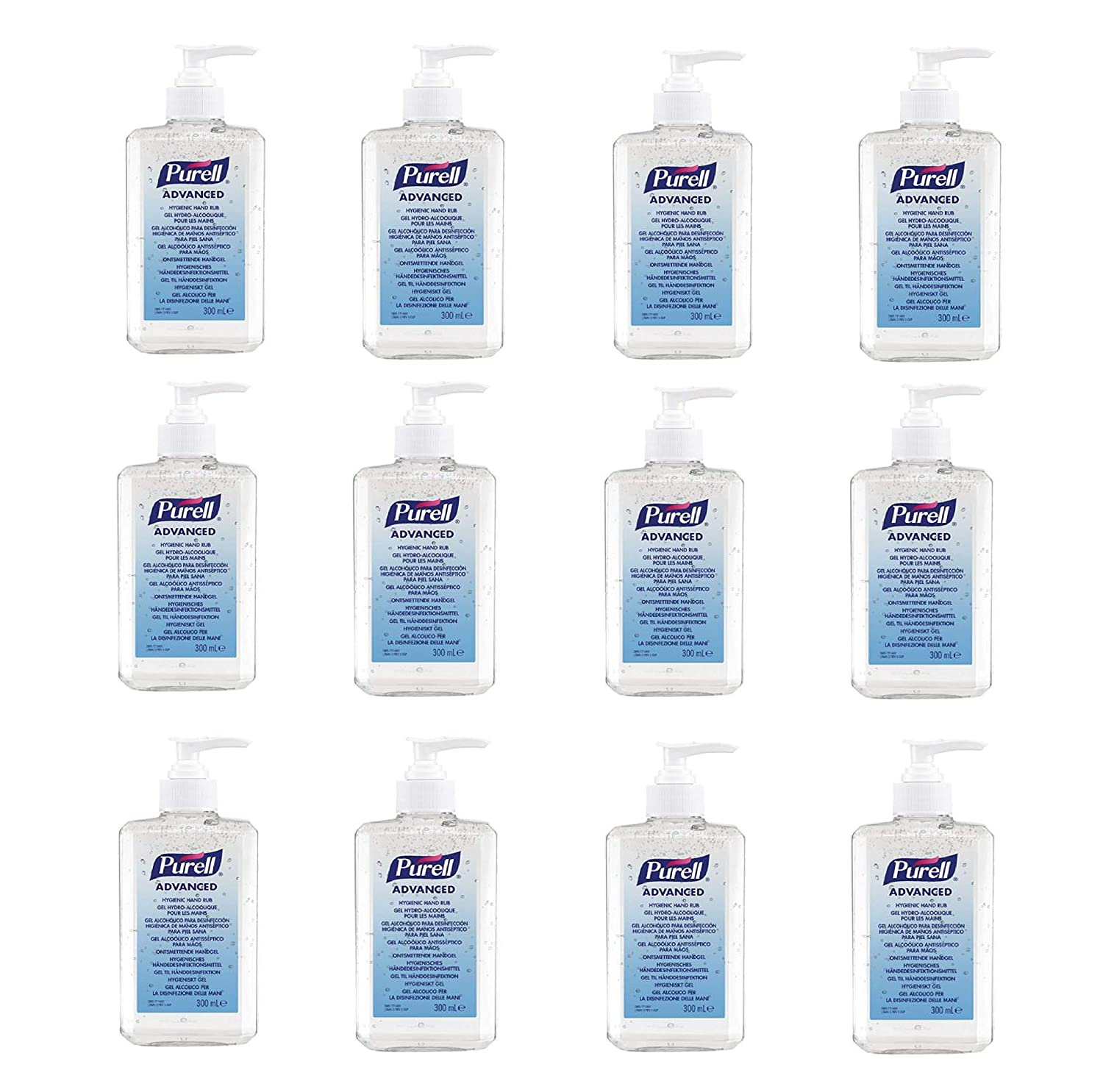 PURELL Advanced Hand Sanitizer Gel 300ml (Pack of 12)