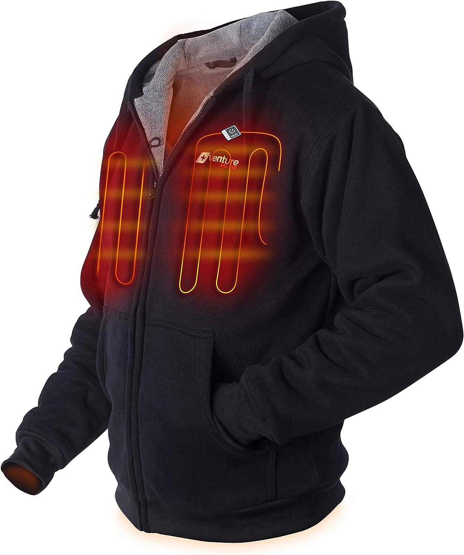 Venture Heat Heated Hoodie with Battery - Plush Heavyweight Fleece, Electric Sweater Jacket Men Women, Transit 2.0