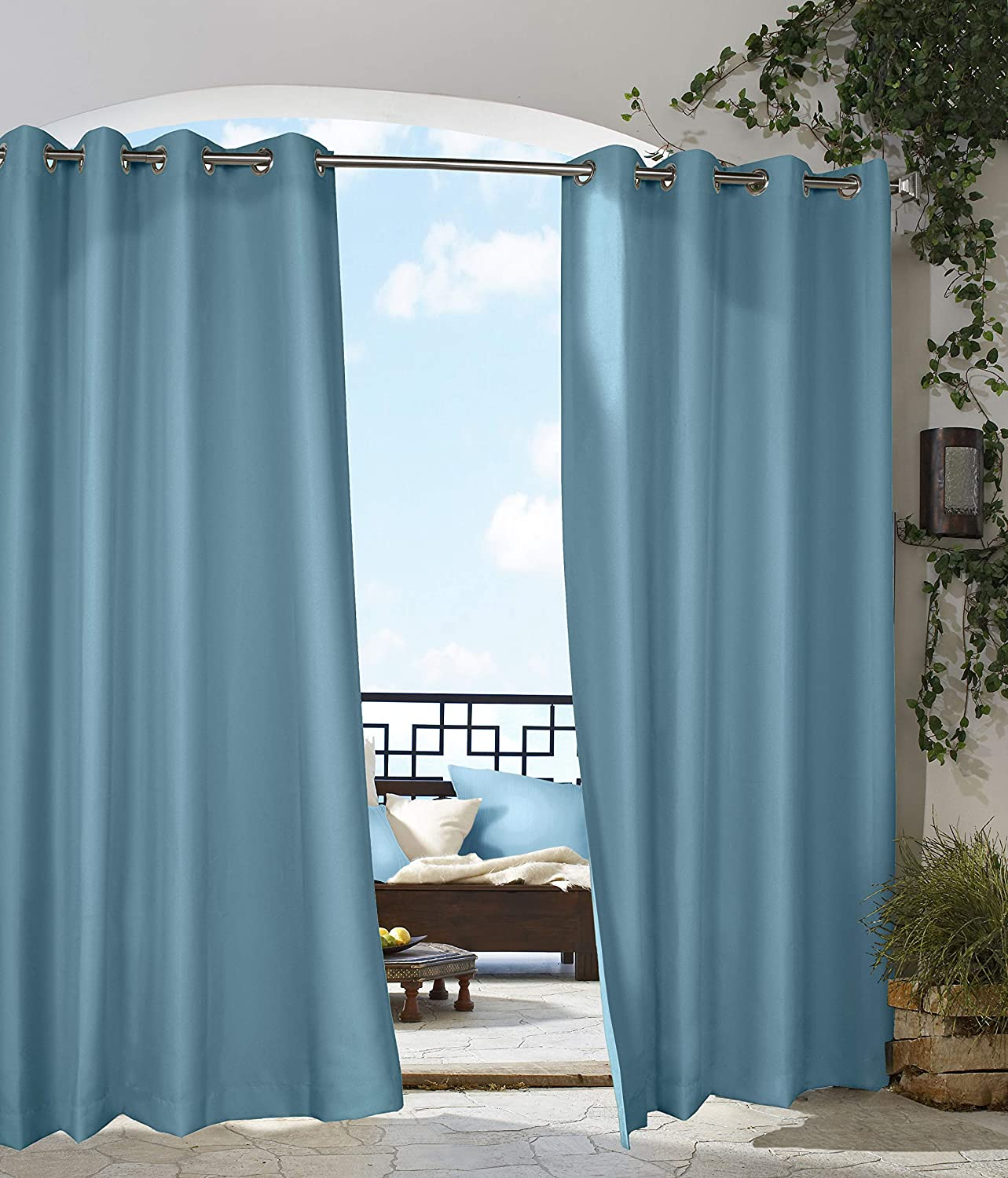 Outdoor Decor Decoración al Aire Libre Gazebo Paneles Interior Exterior Ventana, 50 por 96, Color Azul: Amazon.es: Hogar