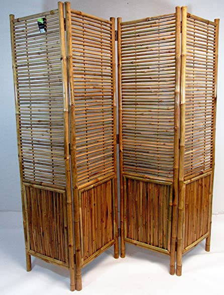 Master Garden Products Bamboo Self Standing 4 Panel Divider And Screen, 72  X 72u0026quot;