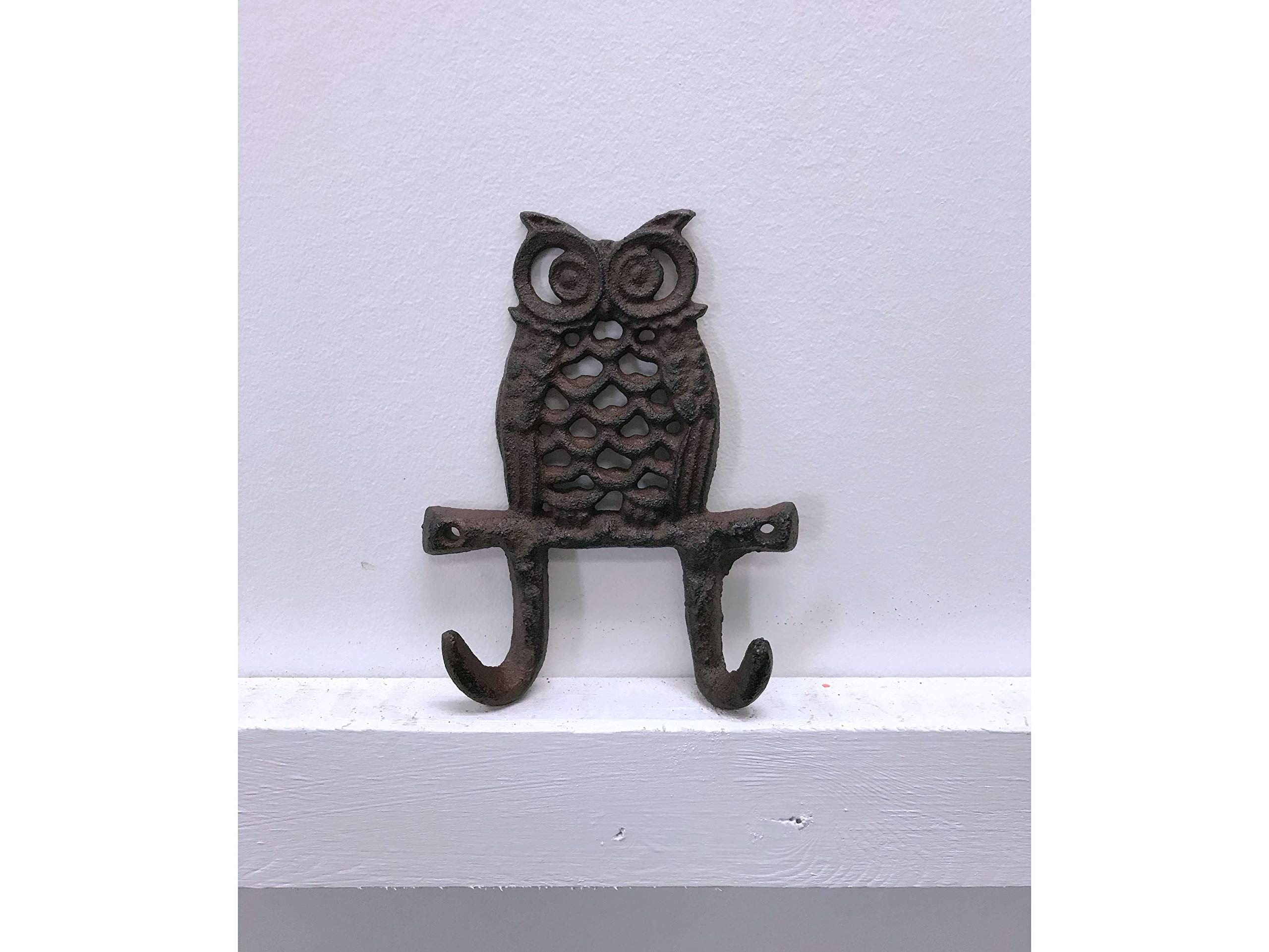 Jcook Home Decor Owl Cast Iron Hook (2-Hook)
