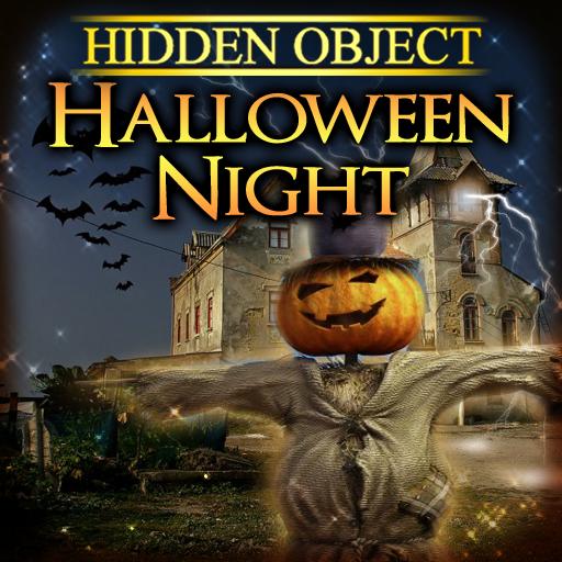 Halloween Night Hidden (Halloween Search And Find Games)