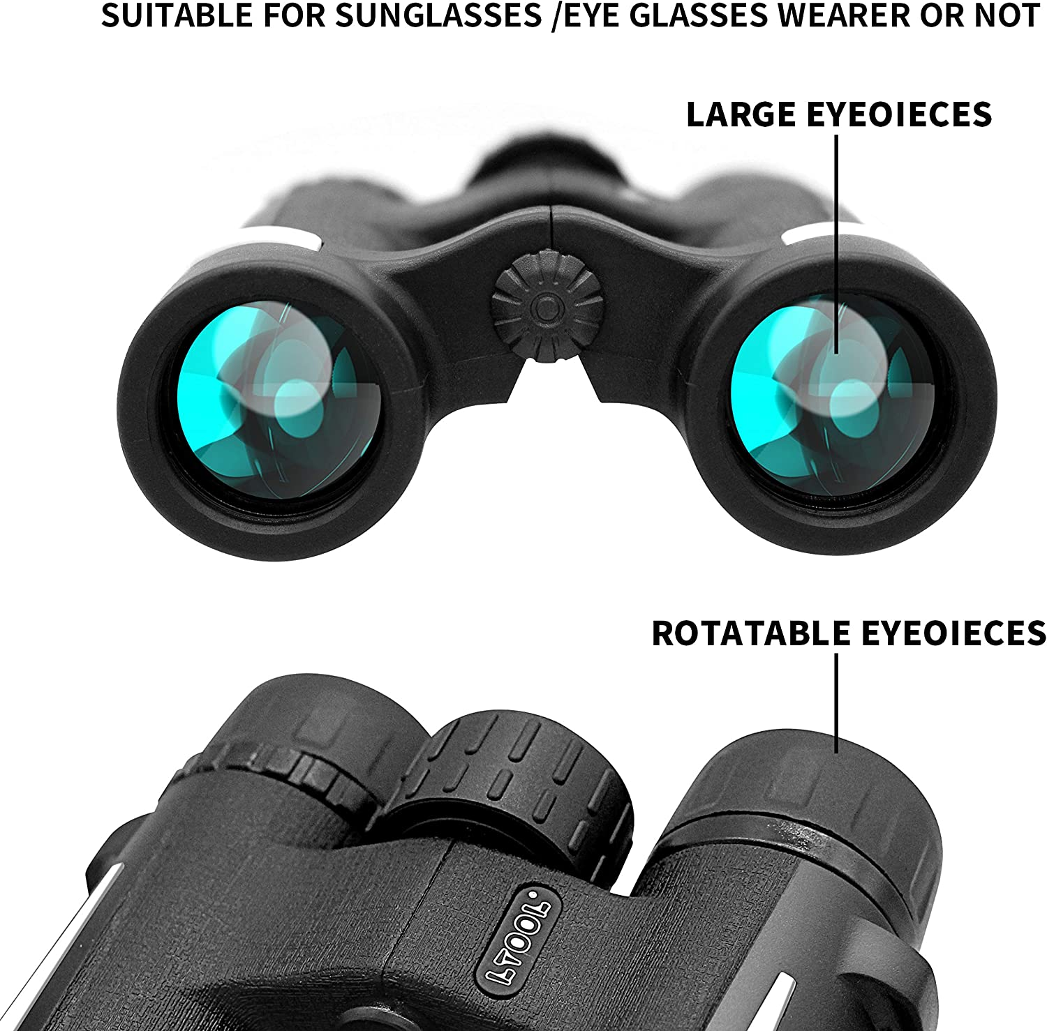 Binoculars for Adults and Kids 10x28 Compact Binoculars Weighs only 0.66 lbs. Lightweight Durable HD Binoculars for Bird Watching Travel Concerts Sports