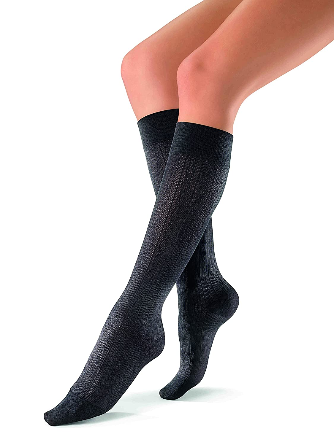 Jobst soSoft Women Brocade Knee Highs 30-40mmHg, M, Black by Jobst B00VS47JX8