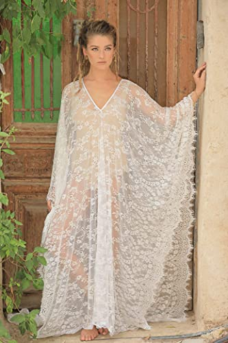 how to find sleek stylish design Soft Lace Caftan Dress, Beach Dress, Bridal Kaftan Dress, Large Size(check  sizes in my shop)