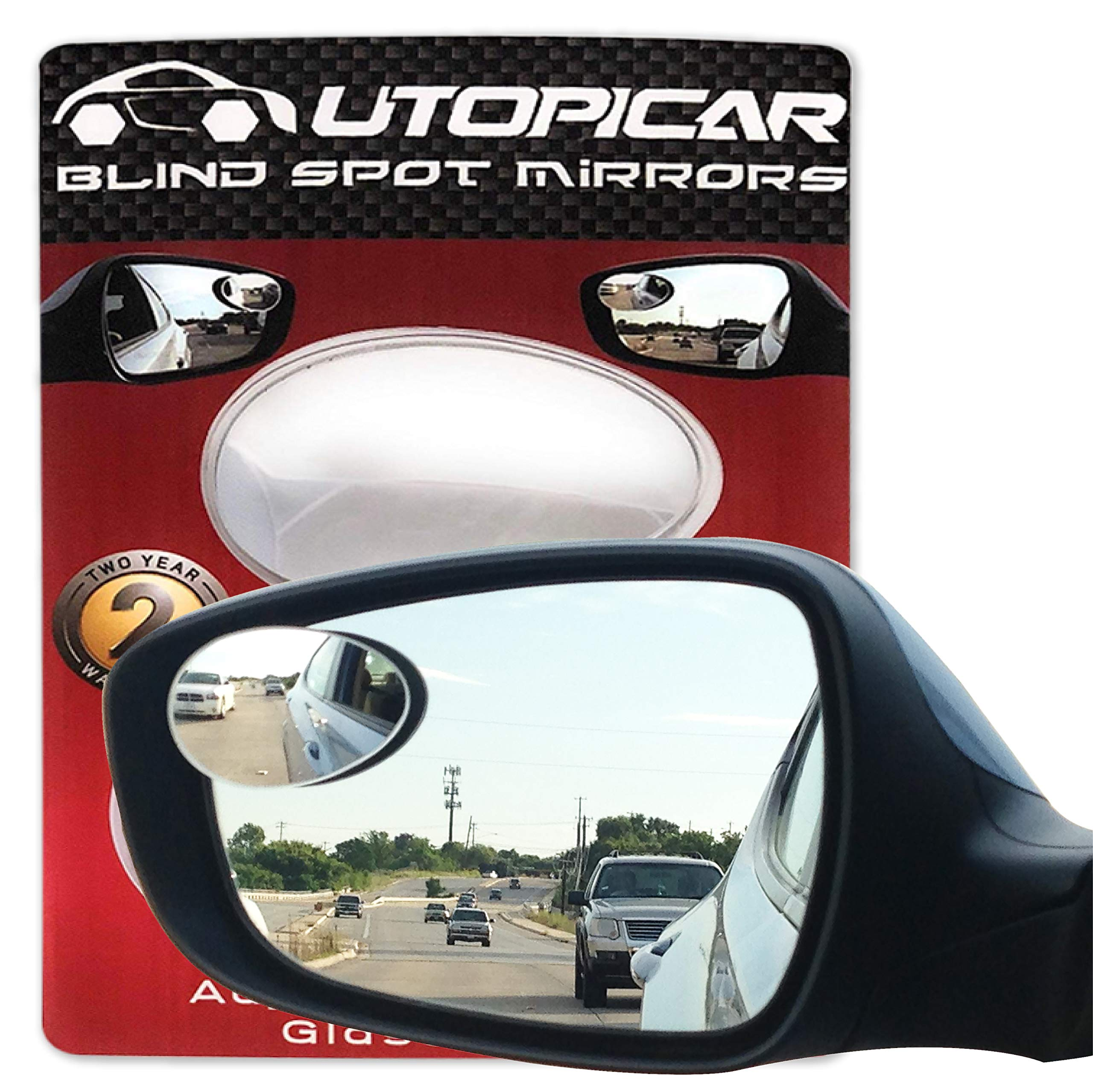 Pack of 1 Razo RG20 10.6 Black Frame Wide Angle Flat Rear View Mirror