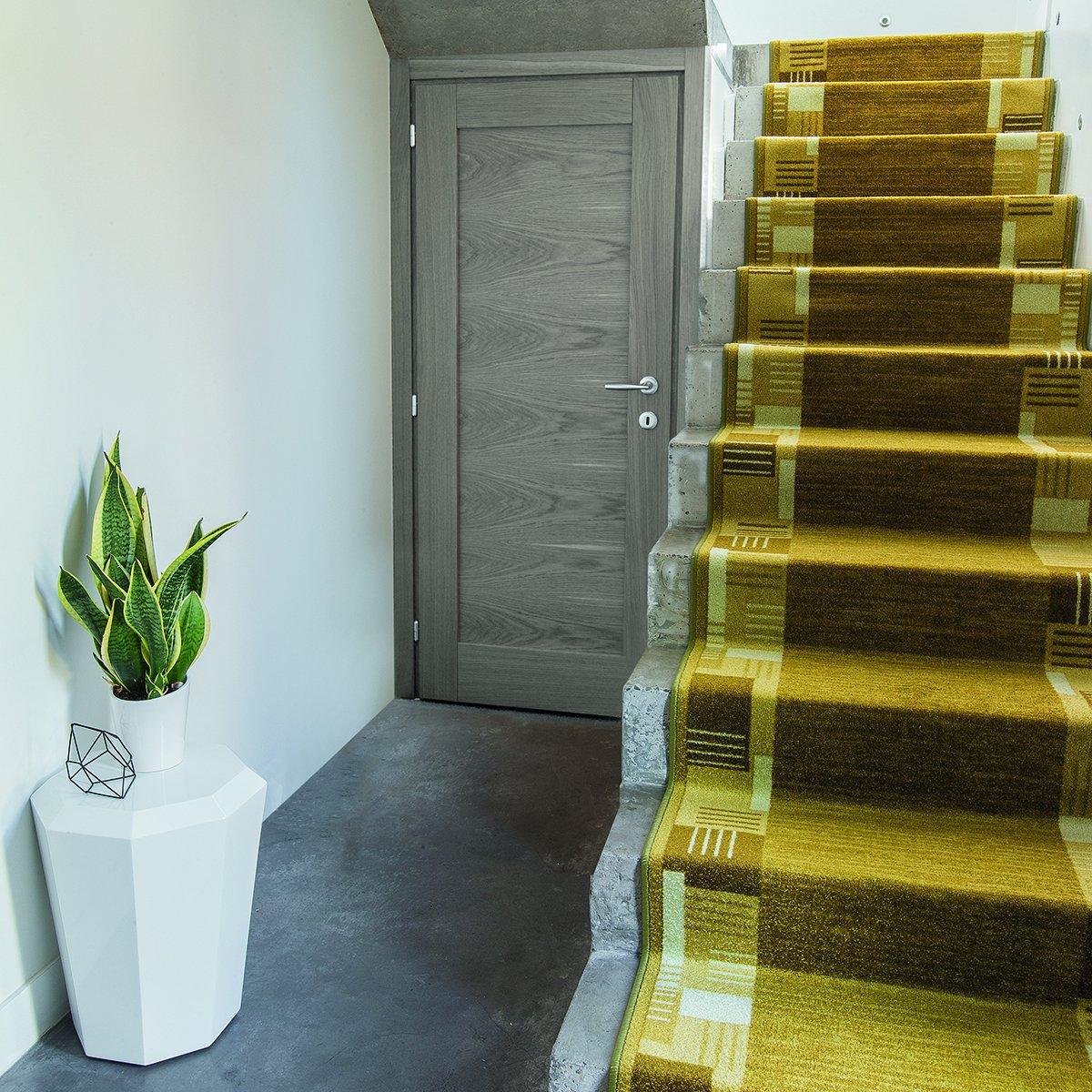 Casa pura Läufer mit Zeitloser Musterung   grau     Qualitätsprodukt aus Deutschland   GUT Siegel   kombinierbar mit Stufenmatten   3 Breiten und 27 Längen (100x375cm) B013WVPO22 Lufer d6b31c