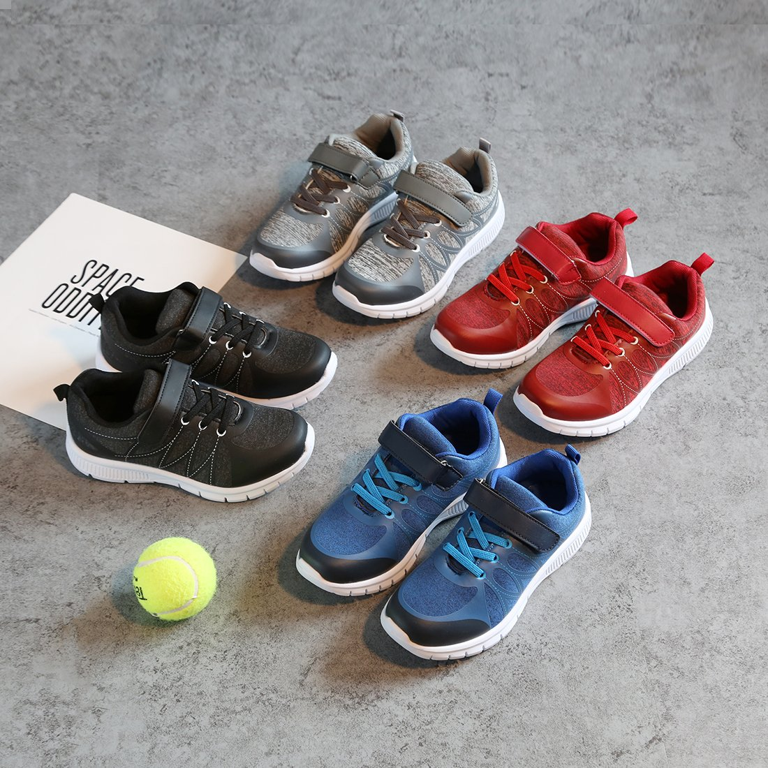 Toddler//Little Kid//Big Kid Hawkwell Kids Breathable Lightweight Casual Lace-up Running Shoes Tennis Shoes