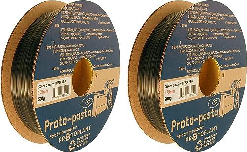 Proto-pasta HTP21705-SMK Translucent Silver Smoke HTPLA, 1.75mm 500g wo ack