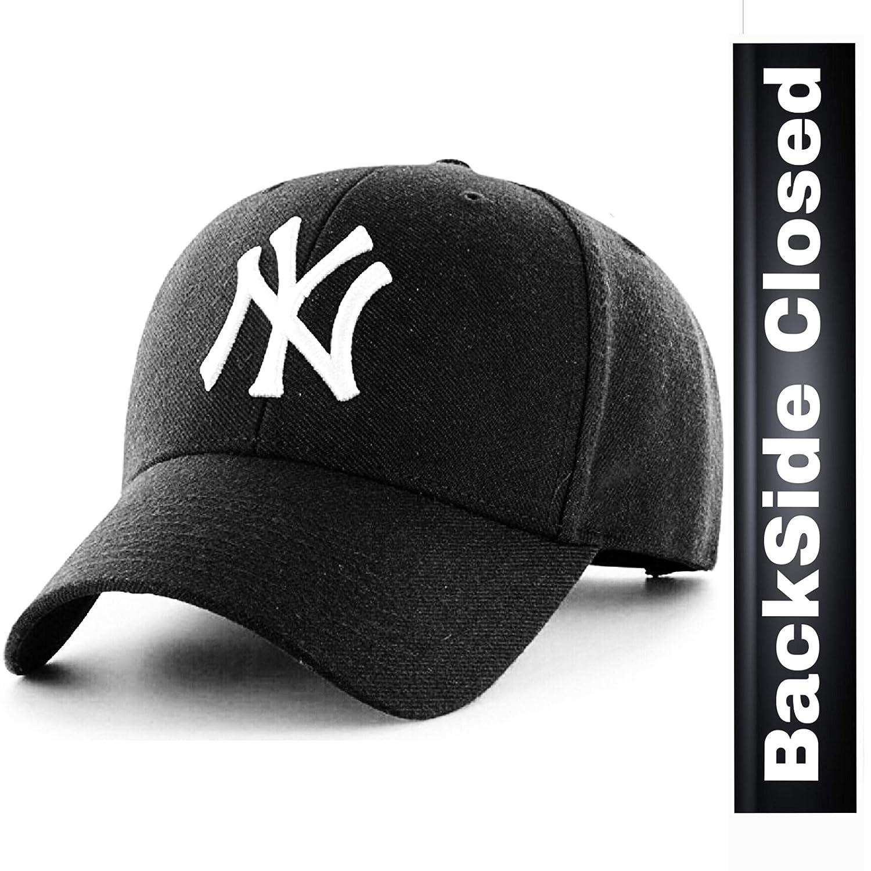 MoohMaya™ Premium Flexifit NY Baseball Caps for Men   Women Back Closed   Amazon.in  Clothing   Accessories c0f308f2f7f1